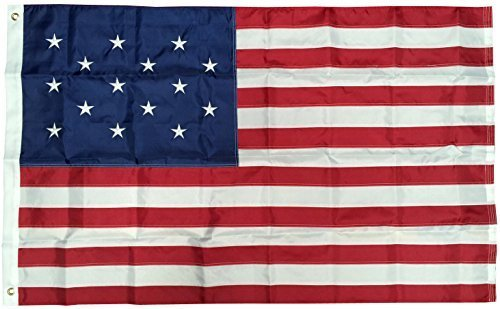 3x5 Ft Nylon Embroidered 15 Stars Spangled Banner American USA Flag by 4 Less