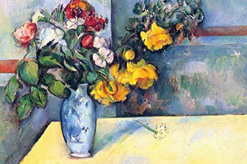(ArtParisienne Flowers in a Vase Paul Cézanne 24x36-inch Wall Decal )