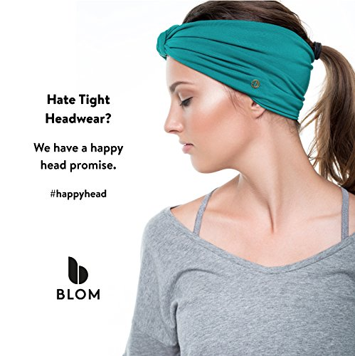 BLOM Multi-Style Headband for Sports or Fashion, Yoga or Travel. Happy Head Guarantee - Super Comfortable. Designer Style & Quality (Winter Dusk)