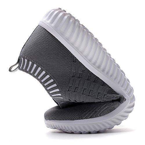 Tiosebon Chaussures De Sport Pour Femmes Chaussures De Marche En Maille Décontractée - Chaussures De Course Respirantes 9 Us Gris Foncé