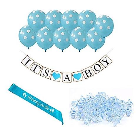 nacola Boy del bebé ducha fiesta adornos Set Azul Globo los chupetes ...
