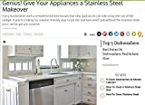 Appliances Dishwashers Best Deals - Dishwasher Update: Brushed Nickel Stainless Peel and Stick Panel 36