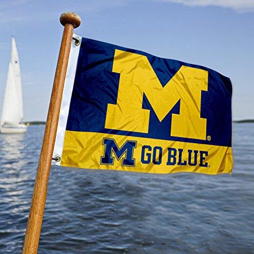 Michigan WolverinesボートとNautical Flag B07CMNFD2Y 13348