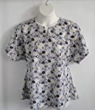 Shoulder Shirts Post Surgery Cotton Shirt - Shoulder, Breast Cancer, Heart/Adaptive Clothing/Rehab/Hospice/Breastfeeding - Style Gracie ~ Dark Navy/Yellow Floral
