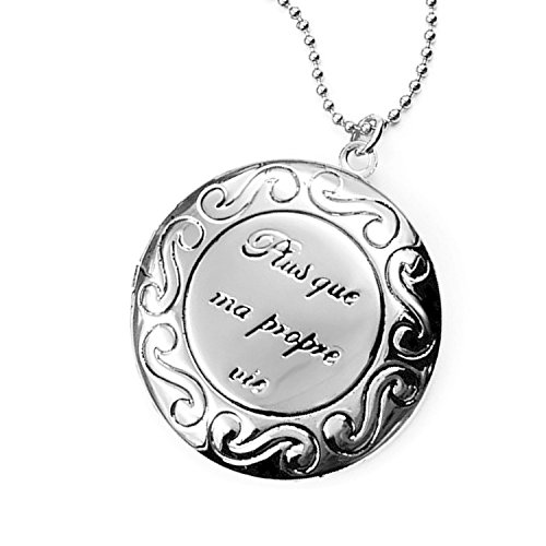 Childrens Round Lockets - YOUFENG Love Heart Locket Necklace That Holds Pictures Polished Lockets Necklaces Birthday Gifts for Girls Boys (Round Silver Locket)