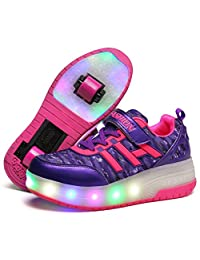 Seunota Child Sneakers Shoe Roller Skate Shoes LED Light Sneakers Shoes With Wheels For Kids
