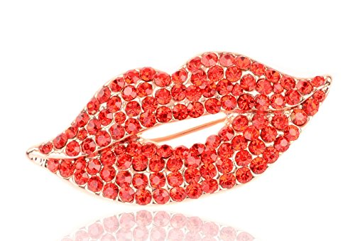 lry Lips Inspired Fashion Jewelry Logo Original Pin Brooch (Chanel Inspired Necklaces)