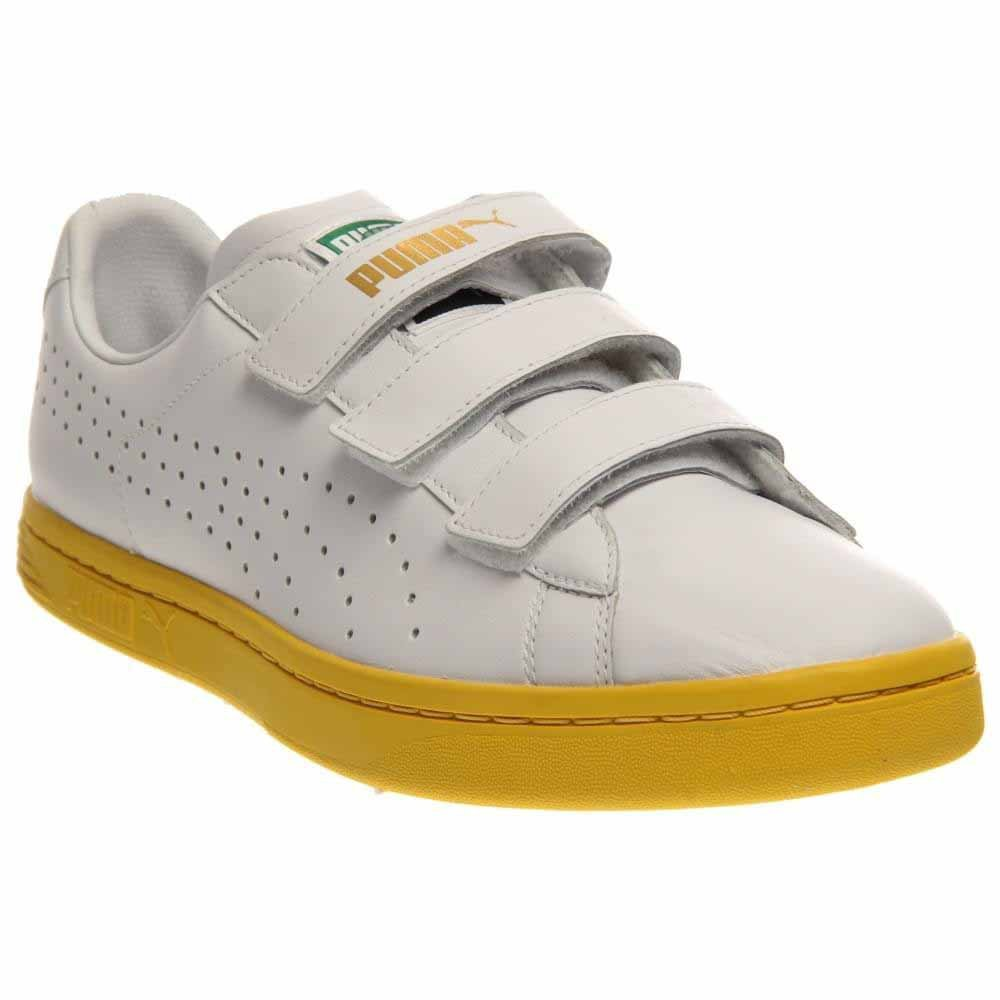 best service b4521 2fcda Puma Court Star Velcro Men US 14 White Sneakers: Amazon.co ...