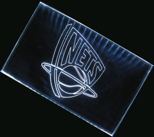 NBA New Jersey Nets Team Logo Neon Light Sign (White) by scopewise co