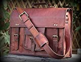 "Best Laptops Briefcases - Handmadecraft Vintage Leather Laptop Bag 15"" Messenger Handmade Review"