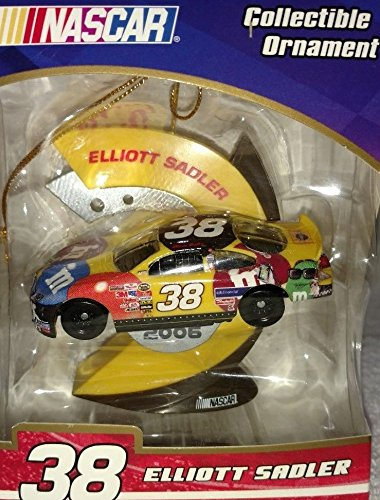 NASCAR 2006 Edition Elliott Sadler #38 MMs M&Ms Christmas 1/64 Scale Car Ornament ()