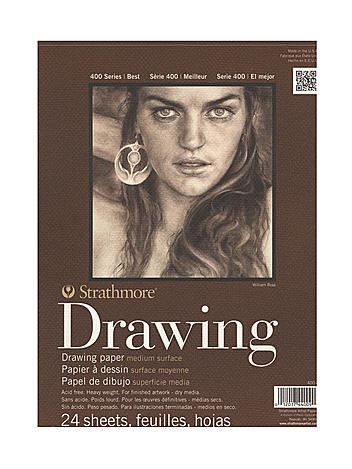 Strathmore 400 Series Drawing Paper Pad 8 in. x 10 in. [PACK OF 6 ]