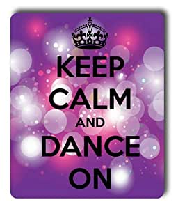Lilyshouse Keep Calm and Dance on Rectangle Mouse Pad