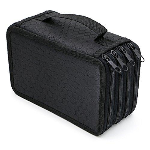 Handy Wareable Oxford Colored Pencil Bags Large 72 Slots Pencil Organizer Portable Watercolor Pencil Wrap Case (Black) Photo #6