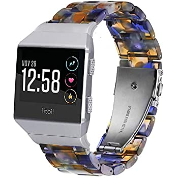Amazon.com: Wearlizer Leather Band Compatible for Fitbit ...
