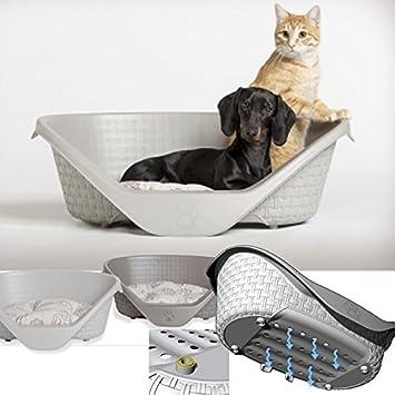 Cama para perro bama litera para animales caseta para perro perro plast cuna 60 cm color marrón: Amazon.es: Jardín
