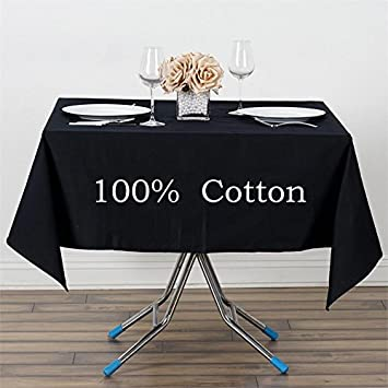 Captivating BalsaCircle 60u0026quot; X 60u0026quot; Square Premium Cotton Wedding Tablecloth ...