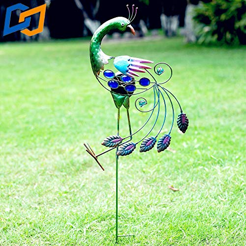 - Solar Lighting Metal Peacock Garden Decoration Path Path Lawn Halloween Christmas Decoration Courtyard LED Lights