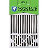 Nordic Pure 16x25x4/16x25x5 (4-3/8 Actual Depth) MERV 13 Honeywell FC100A1029 Replacement Pleated AC Furnace Air Filter, 1 Pack 5-Inch