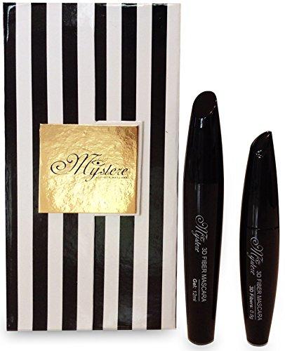 Mascara - Best 3D Fiber Lash Mascara Set For Thickening & Lengthening Eyelashes By Up To 300%-Safe...