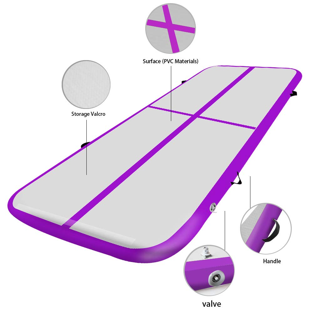 Parkour Weanas Gymnastics Air Tumbling Track Mat Inflatable Tumbling Mats with Electric Air Pump for Practice Gymnastics Home Floor Tumbling
