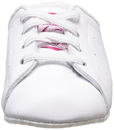 adidas Stan Smith Crib - Zapatillas Unisex Blanco (Ftwbla/Ftwbla/Rosfue 000)