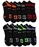 DC 6-Pack Men's Sport No Show Socks Size 10-13