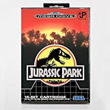 Sega MD games card - Jurassic Park with box for Sega MegaDrive Video Game Console 16 bit MD card - MD card Game Card For Sega Mega Drive For Genesis