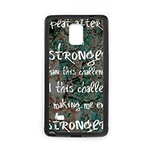 Positive Inspirational Quotes Samsung Galaxy Note 4 Case Black Yearinspace956857