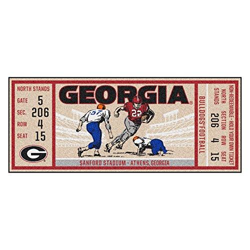 - NCAA University of Georgia Bulldogs Ticket Non-Skid Mat Area Rug Runner