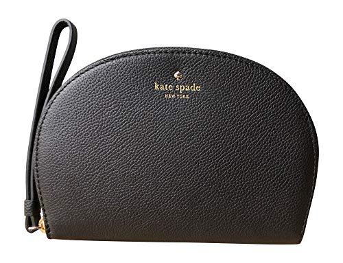 Kate Spade New York Shara Larchmont Avenue Pebble Leather Phone Wristlet (Black)