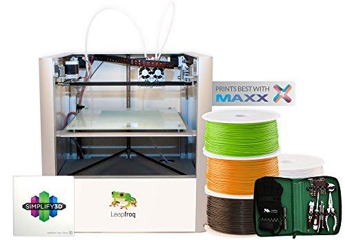 Leapfrog Creatr 3D Printer Starter Package, Dual Extruder, 200 x 270 x 230 mm Maximum Build Dimensions 0.05-mm Maximum…