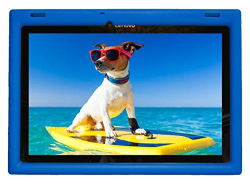 Bobj Rugged Case for Lenovo 10 TB-X103F and Tab 2 A10-30, Tab2 X30F - BobjGear Custom Fit - Patented Venting - Sound Amplification - BobjBounces Kid Friendly (Batfish Blue)