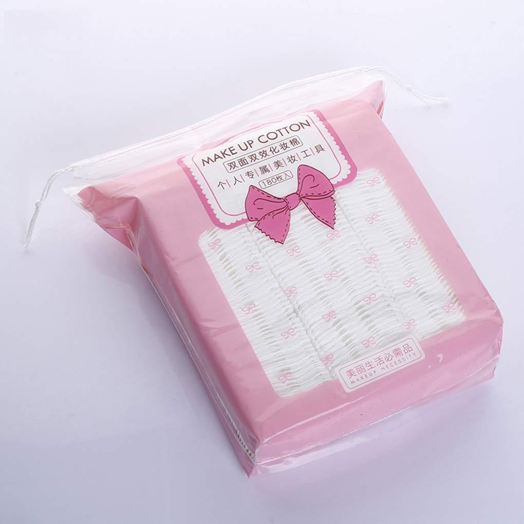 MUANI 180PCS / Set prensado almohadillas de algodón maquillaje de uñas de doble cara removedor de esmalte Toallitas hidropático Comprimir soplo facial: ...