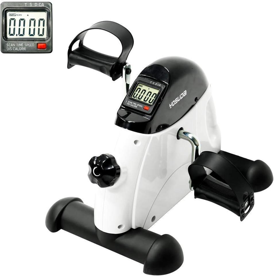 YOSUDA Under Desk Bike Pedal Exerciser – Mini Cycle Exercise Bike for Leg Arm Pedder Portable