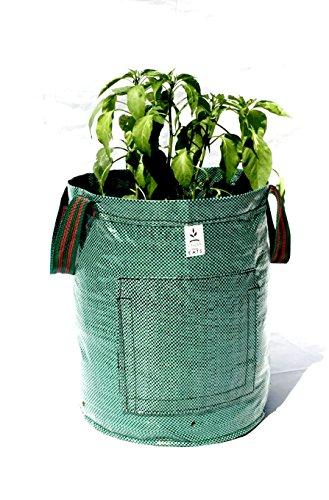 Garden E.A.T.S. 10 Gallon Garden Potato Grow Bag With Handles (2Pack)-Grow Veggies: Onions, Potatoes, Carrots & Anything You Desire, Smart Easy Access Door To Harvest All Root Vegetables by Garden E.A.T.S.