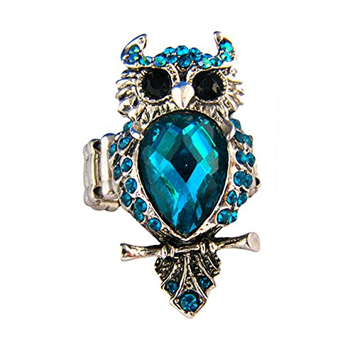 [Twinkle Crystal Metal Ring - Owl (Blue)] (Homemade Dragon Costumes Ideas)