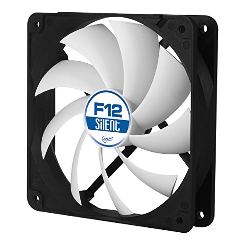 ARCTIC F12 Silent, 120 mm 3-Pin Fan with Standard Case and Higher Airflow, Quiet and Efficient Ventilation (Corsair Air Series Af120 Led Quiet Edition)