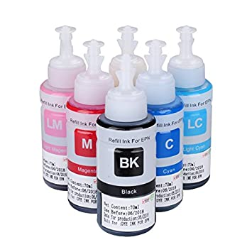 Amazon.com: w-ink 600 ml 6 pack Refill Kit 100 ml para Epson ...