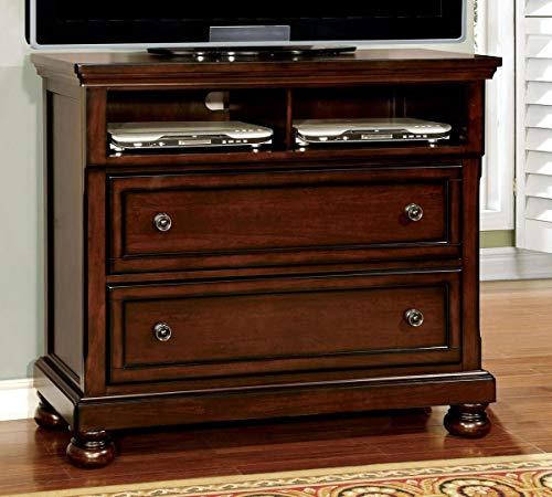 Furniture of America CM7682TV Northville Dark Cherry Media - Chest Brown Media