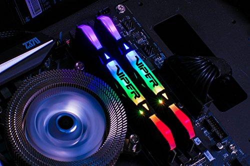 Patriot Viper Gaming RGB Series DDR4 DRAM 3600MHz 16GB Kit - Black - RGB Color Profiles