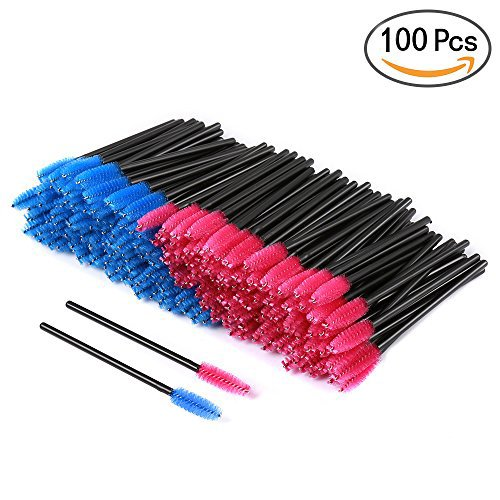 100pcs Disposable Eyelash Eye Lash Makeup Brush Mascara Wands Applicator Makeup Kits (Disposable Mascara Brushes)