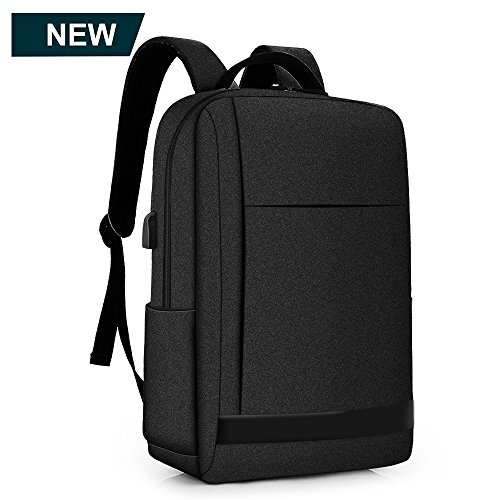 Laptop Backpack for Men, with USB Charging port 15.6 waterproof business backpack for women, college travel (Black) by BestoU