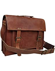18 Inch Leather Messenger Bags For Men Women Mens Briefcase 17 Inch Laptop Bag Best Computer Shoulder Satchel...