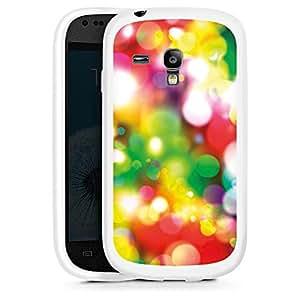 Silicona Carcasa blanco Funda para Samsung Galaxy S3 Mini - Blurred Lights