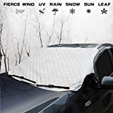 Windshield Snow Cover - Car Snow Cover,Windshield Ice Cover,Car Windshield Cover Waterproof Frost Cover Snow Ice Removal Winter Protector Cotton Thicker Snow Cover Fit for Most Vehicles