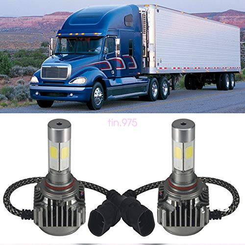 FidgetFidget 2pc LED Headlight Bulb Conversion Kit for Freightliner Columbia 96-2013 Low Beam