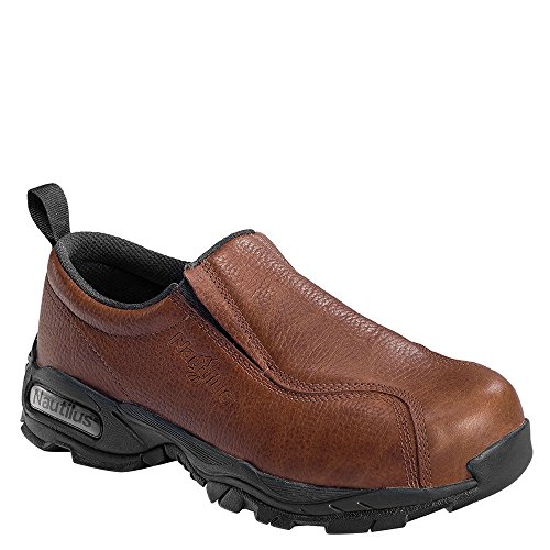 Nautilus Men's Steel Toe Slip On Sneakers,Brown,16 ()