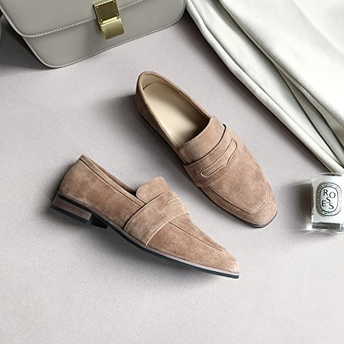 Head Shoes Female With With Brown Party Single The Bold Spring And Break 34 Low Versatile PIgqxwwa