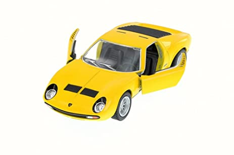 Amazon 1971 Lamborghini Miura P400 Sv Yellow Kinsmart 5390w